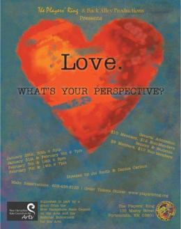 Love 2010 Original monologues & short dialogues Players' Ring Poster Design Andrew Fling