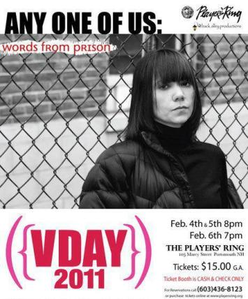 V-Day Portsmouth 2011 Any One Of Us: Words from Prison Players' Ring Photo & Poster design Mat Kingsbury/2046