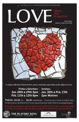 Love 2011 Original monologues & short dialogues Players' Ring Poster design Mat Kingsbury/2046