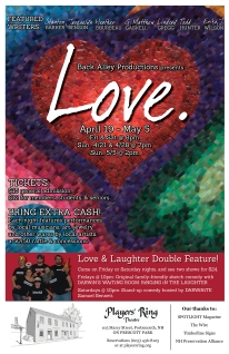 Love 2013 Original monologues & short dialogues Players' Ring Art & Poster design Kaitlyn Huwe